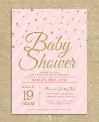 pink and gold baby shower invitations pink gold baby shower invitation pink gold glitter polka dots