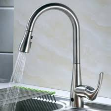 kitchen faucets touchless brushed nickel kitchen faucets you ll wayfair