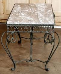 Wrought Iron Sofa Tables by Hand Wrought Iron Table With Marble Top By Artfirm Us Wrought