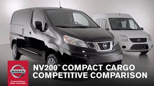 nissan nv200 office nissan nv200 compact cargo competitive comparison youtube