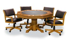 amazon com signature combination game table set w 4 chairs oak