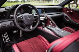 lexus lf lc interior 2018 lexus lc review roadshow