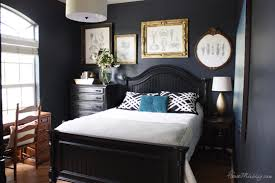 Guest Bedroom And Office - navy blue bedroom and home office house mix