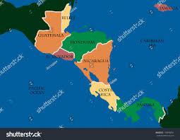 World Map Central America by Map Central America Stock Illustration 118996834 Shutterstock
