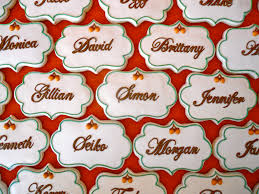 oh sugar events thanksgiving place card cookies