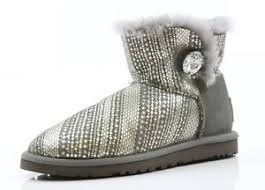 s ugg mini boots 039 s ugg mini bailey button bling taupe grey boots size 5