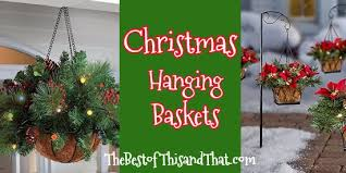 christmas hanging baskets with lights sale and online discounts of pre lit christmas hanging baskets with