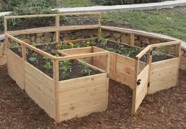 Cedar Raised Garden Bed Olt Raised Cedar Garden Bed 8 U0027x8 U0027 Or 8 U0027x12 U0027 With Deer Fence