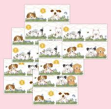 Wall Art Decals For Nursery by Puppy Dog Wallpaper Border Wall Art Decals Girl Nursery Stickers