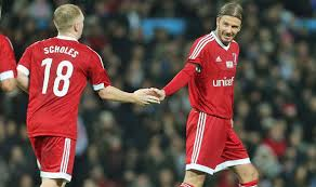 united legends roll back years as beckham scholes and owen