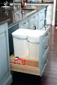 kitchen trash can storage cabinet custom made rustic wood trash can wooden trash can holder wooden