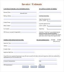 Hvac Estimate Template by Sle Estimate Invoice Template 7 Documents In Pdf Word