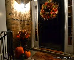 porch at night my fall decorations on the front porch worthing court at night