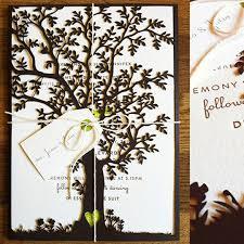 tree laser cut wedding invitations stephenanuno