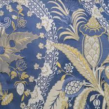 tissus canapé forêt tropicale plantes jacquard tissé bleu intérieur d ameublement