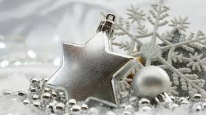 silver christmas decorative silver christmas background photo free