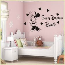 aliexpress com buy custom name kids baby room decoration art aliexpress com buy custom name kids baby room decoration art vinyl decals personalized minnie mouse sweet dreams princess room wall decal y 202 from