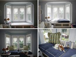 instead of springing for custom cushions on a bay window seat i instead of springing for custom cushions on a bay window seat i bought two dog