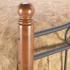 weston iron u0026 wood bed matte black maple south west style