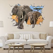 popular decals elephant sticker buy cheap decals elephant sticker 8006 hot selling delicate african animal removable 3d dual elephant wall sticker home kid room art