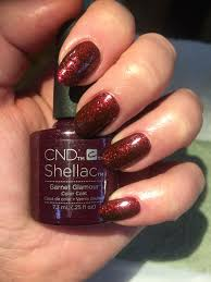 shellac garnet glamour from the new collection star struck nails