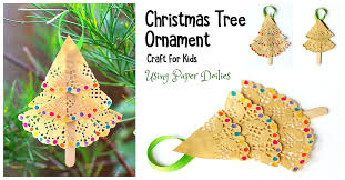 tree ornament craft for using paper doilies buggy