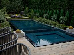 Infinity Pool Backyard by Pool Deck Designs And Options Diy
