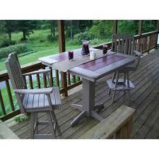 Square Table L A L Furniture Co Royal Swivel 3 Bar Set 44 Table Rocking