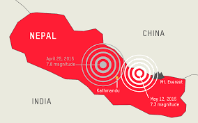 Nepal On Map Nepal Earthquake Oxfam America