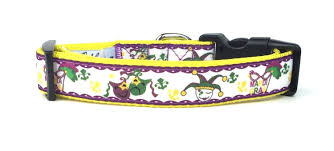 mardi gras jester ribbon dog mardi gras jester ribbon dog collar large by