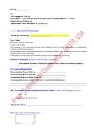 cover letter u0026 declaration form asian journal of applied science