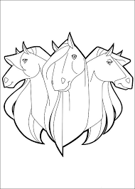 69 horseland images colouring pages horse