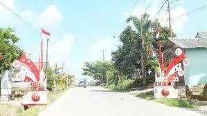 desain warna gapura melihat kemeriahan kota pangkalpinang jelang hut ke 71 ri