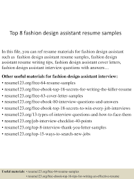 Fashion Designer Resume Templates Free Assistant Fashion Designer Resume Resume For Your Job Application