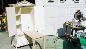 diy craft armoire with fold out table ken wingard s diy craft armoire home family hallmark channel