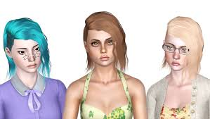 newsea s black bullet hairstyle retextured by july kapo sims 3 hairs