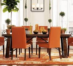 orange chair for cheerful home decoration pretty dining room
