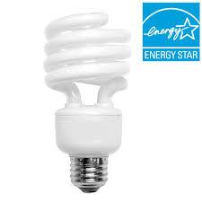 100w cfl light bulbs 100w equivalent daylight spiral cfl light bulb 68923dl the home depot