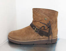 ugg s decatur boots brown ugg australia leather buckle winter boots for ebay