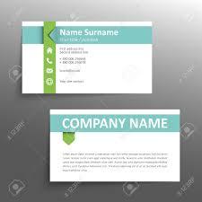 Simple Business Cards Templates Modern Simple Business Card Template Royalty Free Cliparts