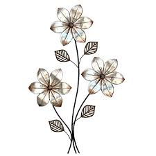 Metal Flower Wall Decor - metal flower wall art floral metal home wall art decor