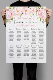 personalized wedding seating chart table seating plan