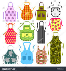 food cooking apron kitchen design clothes stock vector 729851443