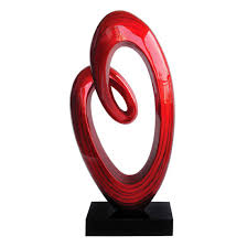 swirl high gloss polyresin sculpture 1410597