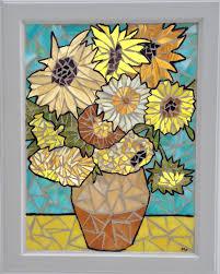 Home Decor Outlet Walden Van Gogh Sunflowers Stained Glass Mosaic Panel Sunflower Still