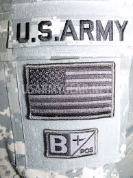 Uniform Flag Patch Us Army Tab Military Acu Flag Velcro Blood Type Patches A B Ab 0