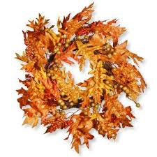 fall decorations fall garland wreaths fall decorations the home depot