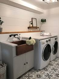 Premade Laundry Room Cabinets by Our Laundry Room With Home Depot Bonjour Bliss Roxanne West