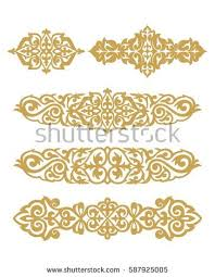 kazakh ornament 1 stock vector 587925005
