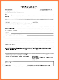 car damage report template report form template business